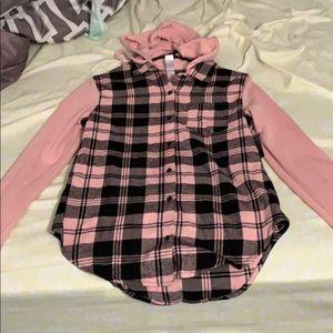 Plaid Hoodie/Shirt